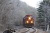 Frosty Morning at Wadhams (ERIE1960) Tags: railroad railfan trains locomotive canadianpacific delawareandhudson adirondacks freighttrain newyorkrailroads ge ac4400cw