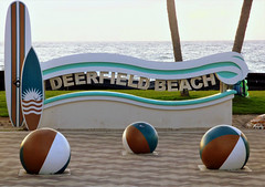 Deerfield Beach Welcome Sign (Ocean Gypsy 69) Tags: oceangypsy69 ocean gypsy 69 beach babe body beauty bathing bikini blue water waves deerfield florida ft lauderdale pompano miami model mermaid summer sea sexy sun sand swim photo shoot sunshine love kiss kisses boca raton art concept photoshop play playfull fun