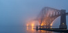 Fog Swallowed (Fading Dusk Photography) Tags: edinburgh southqueensferry fog mist uk scotland kyoshimasamune fife fifecoast kingdomoffife sigma1750mmf28 forth forthrailwaybridge panorama longexposure sunset goldenhour lowtide forthbridge hawespier