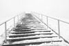Ascent (marktmcn) Tags: ascent wintry climb snow covered steps up snowy stave hill towards summit viewing point rotherhithe surrey docks london dsc rx100