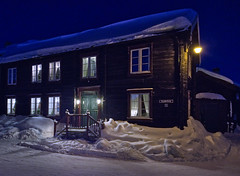 A Place for Tonight (RomImage) Tags: night nocturne norway roros house wood woodenhouse cold winter snow lights street snowystreet christmas mood moody windows village town røros north europe verycold belowzero coldatmosphere wanderlust traveller travel tourist tourism trip coldnight nikon d800