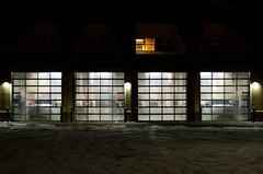 Fire Station Doors (Bracus Triticum) Tags: night fire station doors red deer レッドディア アルバータ州 alberta canada カナダ 11月 十一月 霜月 jūichigatsu shimotsuki frostmonth autumn fall 平成29年 2017 november