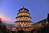 Tianyuan temple, Danshui淡水天元宮 (Vincent_Ting) Tags: 淡水 天元宮 櫻花 新北市 台灣 藍調 寺廟 temple tianyuan danshui newtaipeicity taiwan bluehour cherry cherryblossoms