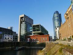 Impressionen Düsseldorf Medienhafen (pfetzing-fotografie) Tags: düsseldorf nordrheinwestfalen landeshauptstadt deutschland rhein hafen medienhafen stadt