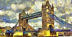 Tower Bridge in London (V_Dagaev) Tags: tower bridge london england united kingdom architecture landscape summer sky capital dynamicautopainter