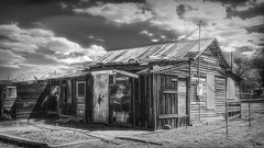 Ashamed Of Home (emiliopasqualephotography) Tags: daggetca california minerscabin shack home ruraldecay route66