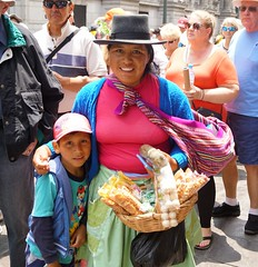 Andean people (Suzanne's stream) Tags: andeanwoman coca leaves selling lima peru lovely colorful southamerica