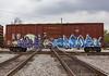 (o texano) Tags: houston texas graffiti trains freights bench benching cloe