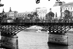 Paris Bridge (Anna Sikorskiy) Tags: bw blackandwhite city cityscape river riverfront bridge architecture streetphotography streetart abstract concept paris france europe urban canon annasikorskiy