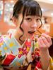 榎本奈里子とあんみつ / 和蘭豆 浅草 (zaki.hmkc) Tags: 榎本奈里子 なりイベ タレント・モデル イベント tokyo 着物 浅草 撮影会 食事