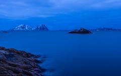 Deep Blue Something (katrin glaesmann) Tags: lofoten norway 2018 winter sea longexposure 50seconds unterwegsmiticelandtours photographyholidaywithicelandtours kabelvåg vågan nordland austvågøya bluehour