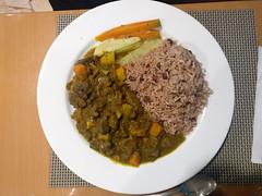 Curry Goat (Peeping Thom) Tags: montegobay jamaica jamaika travel holiday reise currygoat riceandpeas rice peas