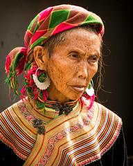Woman at Market in North Vietnam (ronniegoyette) Tags: hilltribes northvietnam oct2017vacation elderly woman