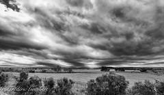 Clouds of Spring (frederic.gombert) Tags: sea lake bw seaside seascape seasight season spring black white south france etang berre