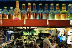 Just The Tonic (Douguerreotype) Tags: bokeh gintonic pub bar glass bottle drink people city night malta urban valletta