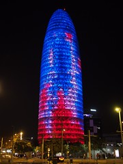 Torre Agbar (procrast8) Tags: barcelona spain agbar tower torre glories