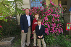 easterboys2018 (FAIRFIELDFAMILY) Tags: jason taylor grant carson michelle azelia azalea azaleas pink flower spring jacket sports coat child boy young family father son mother winnsboro sc south carolina southern yard fairfield county handsome easter 2018 mary lou memaw grandmother hall porch