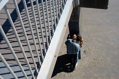 Kiss (dtanist) Tags: nyc newyork newyorkcity new york city sony a7 konica hexanon 40mm coney island scene filming kiss beach sand steeplechase pier