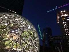 Amazonian buckyball at night.