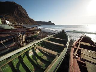 Cabo Verde Cape Verde Ilha de Santiago Island Porto de Ribeira da Barca Fishing Boats © Kapverden Kapverdische Inseln Kap Verde Boote ©