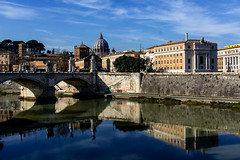 Roma (ravalli1) Tags: rome italy saintpeter church art architecture city roma sanpietro tevere fiume river