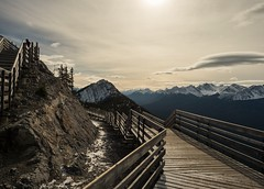 On the Sulphur mountain boardwalk (FamHiroshima) Tags: mountains mountainscape mountain sulphurmountain banffgondola banff alberta landscapes scenic scenery boardwalk explore exploration wilderness adventure omd canada