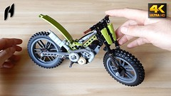 How to Build Lego Technic Trial Motorcycle (MOC - 4K) (hajdekr) Tags: lego buildingblocks assemblyinstructions guide buildingguide tuto tutorial tip help tips stepbystep inspiration design manual instruction instructions toy model buildingbricks bricks brick builder buildingtoy moc myowncreation trial motorbike motor engine motorcycle motorcycletrials observedtrials motocross enduro riding ride race racer update howto howtobuild