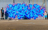 One for the kids (Zesk MF) Tags: color zesk 24mm nikkor trier graffiti cans loop spray mullern buchstaben letters wildstyle graff writing name kids blue mural wall cap hat cool bois summer sun outside