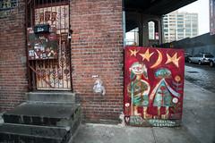 DUMBO, Brooklyn (ChrisGoldNY) Tags: chrisgoldphoto chrisgoldny chrisgoldberg sonyalpha sonya7rii sonyimages sony newyork nyc newyorkcity albumcover bookcover streetart graffiti red bricks dumbo brooklyn urban city bk