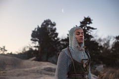 Ophindian Offering (aleah michele) Tags: snake serpent moon luna luar lunar armor chainmail womaninarmor practicalfemalearmor strongwoman warriorwoman calm dusk