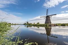 Kinderdijk, Nederland (celis.marianne) Tags: landscape unescoworldheritage windmolen reflection nederland unesco werelderfgoed kinderdijk windmills