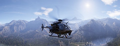 Tom Clancy's Ghost Recon - Wildlands (Matze H.) Tags: tom clancys ghost recon wildlands helicopter heli team squad panorama special forces sun mountains clouds ansel geforce nvidia