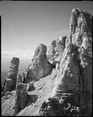 Latemar Torre Pisa (Philippe Torterotot) Tags: chamonix45n2 4x5 fomapan100 largeformat grandformat altoadige italie italia dolomites dolomiti analog argentique filmisnotdead film noirblanc blackandwhite montagne