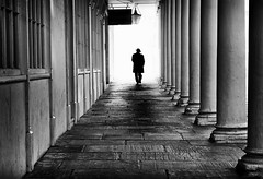 the man in black (Daz Smith) Tags: dazsmith fujixt20 fuji xt20 andwhite bath city streetphotography people candid portrait citylife thecity urban streets uk monochrome blancoynegro blackandwhite mono mib man silhouette hat columns pillars