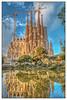La Sagrada Familia, Barcelona (cee live) Tags: sagradafamilia spain barcelona cathdral winter sunny flickr canon lake pond reflection cranes clouds gaudi