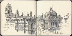 Desde el Palacio de Cibeles (f.gómezcorisco) Tags: dibujo rotulador madrid castejao urbansketchers apunte cuaderno boceto sketchingmadrid