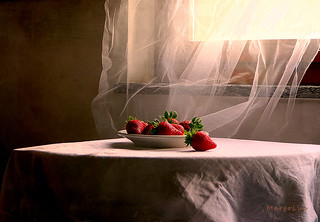 Still Life with Sweet Strawberries ...