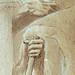 PRIMATICE - Saturne debout, drapé, tenant une Faux (drawing, dessin, disegno-Louvre INV8515) - Detail 25