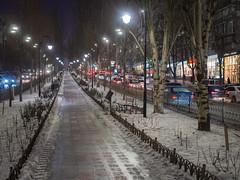 Kiev (Fizzik.LJ) Tags: lights night winter kyiv street ukraine snow kiev