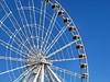 Ferris Wheel, Montreal, Quebec (duaneschermerhorn) Tags: wheel cars ferriswheel blue structure metal beams entertainment