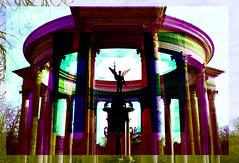 Perceptual foundation (Karsten Fatur) Tags: architecture history landmark cardiff wales uk unitedkingdom britain greatbritain travel adventure explore travelphotography gumbichromate rgb triad photoshop edit conceptualart digitalart multipleexposure doubleexposure colour surreal perception