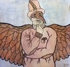 Mister Phoenix (al-worthy) Tags: worthy phoenix hero fantasy plague mask fire wings flame old fashioned steam punk super victorian goth