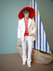 Sail ahoy! (Deejay Bafaroy) Tags: fashion royalty fr doll puppe homme male tate integrity toys it industry tatetanaka stylelab wonderland fairytale convention hat hut blue blau porträt portrait red rot white weiss stripes streifen striped gestreift sailboat segelboot boat boot 16 scale playscale miniature miniatur