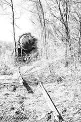 Rail Relic (david.horst.7) Tags: abandoned rail train steam locomotive lost monochrome bw blackandwhite railroad