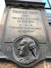 Thomas Gray plaque (Matt From London) Tags: thomasgray cornhill 1716 1771 poet london