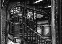 Berlin - Westkreuz (Tobias Dander) Tags: tobiasdander berlin bahnhof westkreuz stairs iron germany deutschland canon70d bnw bw schwarzweiss blackandwhite monochrome