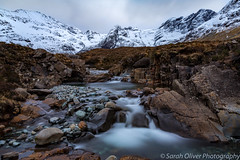 A tranquil place to sit and watch.... (sarahOphoto) Tags: fairy pools isle skye highlands scotland scottish waterfall slow water lee big stopper long exposure canon 6d mountains snow stones pebbles landscape nature river brittle pool black cuillins tranquil uk united kingdom rocks moody
