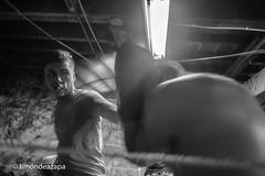 In the corner (limondeazapa) Tags: esquina corner box muaythai fight fighter gloves ring combate lucha cuerdas rope bn bw examen punch fist martial arts martialarts valpo valparaíso sport