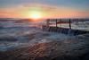 Avalon , Sydney, Australia (darrinwalden Photography) Tags: beach australia avalon pool water ocean swim glow warmth canon 5dmkiv flow sea fence rust rocks sunrise