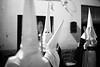 Santa Semana, Oliva, Valencia Region (.stuart hamilton) Tags: oliva valencia hoods hooded black white kkk brotherhood santa semana eye contact scary happy celebrate